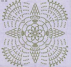 10 Patrones Crochet de Grannys | Crochet y Dos agujas Crochet Motif Patterns, Form Crochet, Granny Square Crochet Pattern, Crochet Diagram, Crochet Squares, Thread Crochet, Crochet Designs, Crochet Doilies, Crochet Flowers