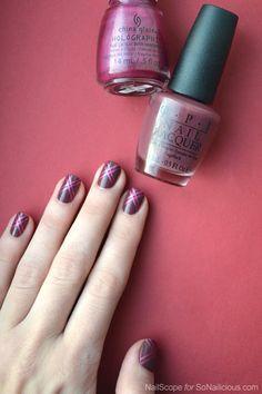 Pretty Marsala Nails