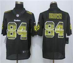 ce51ef1e1ad Pittsburgh Steelers #84 Antonio Brown Black Pro Line Fashion Strobe Jersey