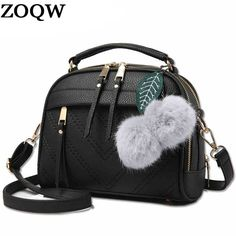 Cheap bolsa feminina, Buy Quality fashion shoulder bags directly from China shoulder bags Suppliers: 2017 Women PU Leather Crossbody Shoulder Bags New Fashion Fluffy Ball Pendant Casual Messenger Bag Bolsa Feminina Small Shoulder Bag, Leather Shoulder Bag, Small Messenger Bag, Girls Bags, Shoulder Handbags, Fashion Handbags, Leather Handbags, Women's Handbags, Leather Bags