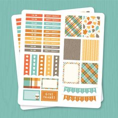 Decorate your planner for fall with our Free Printable Fall Planner Stickers! Perfect for Erin Condren Life Planners!