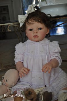 Reborn ARIANNA by REVA SCHICK Realistic OOAK TODDLER Baby Doll. I want one of this artists reborns. She is wonderful. I follow her work