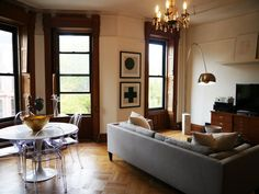 "100percentpurelove: ""Kai and Dan's Lovingly Restored Brownstone Flat """