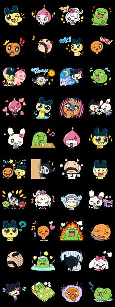 Stickers for the hit anime series Tamagotchi just rolled onto LINE! Emoji Stickers, Kawaii Stickers, Tamagotchi Color, Planner Doodles, Cat Icon, Virtual Pet, Kawaii Doodles, Love Your Pet, Line Sticker