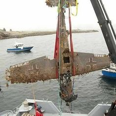 "The German fighter Messerschmitt Bf109 G-2 ""Yellow 3"" that made an emergency landing on the sea close to Nærøy on the 24th of March 1943 was recovered 2010 from a depth of 67 meter. The recovery was performed by teams from NLM, BLHF, Nærøy Aquaservice, Folla Diving Club and the crew aboard the ship ""Camilla"