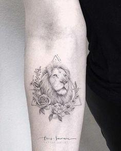 Lion Tattoo by Criz Suconic #beautifultattoos