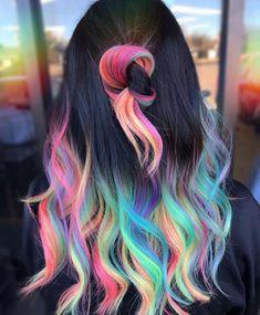 Pretty Hair Color, Hair Color Dark, Dark Hair, Vivid Hair Color, Creative Hair Color, Unique Hair Color, Hair Dye Colors, Cute Hair Colors, Creative Hairstyles