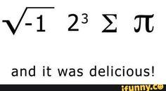 mathjokes, math, summation, pi, imaginarynumbers