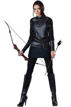 Brand New Warrior Huntress Hunger Games Women Adult Costume   eBay