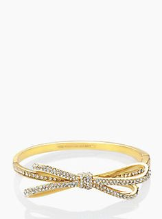 Bow bangle by kate spade http://rstyle.me/n/szjwbn2bn