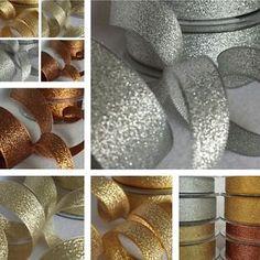 7-15-25-40mm-Berisfords-Sparkly-Lame-Ribbon-Silver-Gold-Copper-Christmas-Glitter