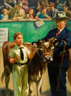 Mainstream Illustration, HY (HENRY) HINTERMEISTER (American, 1897-1972). Showing the  Prize Calf.