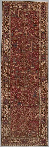 Carpet with Palm Trees, Ibexes, and Birds | late 16th–early 17th century | Probably made in present-day Pakistan, Lahore