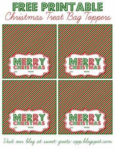 Free Printable Christmas Treat Bag Toppers                                                                                                                                                                                 More