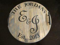 Wine Barrel Tray {DIY} - Made with HAPPY
