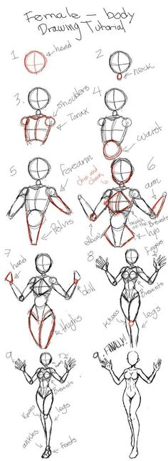ideas step by step Female Body Drawing Tutorial - Female Human Body Drawing Female Body Drawing Tutorial - Female Human Body Drawing<br> Art Drawings Sketches Simple, Pencil Art Drawings, Easy Drawings, Art Inspiration Drawing, Drawing Ideas, Drawing Drawing, Drawing Tips, Drawing Techniques, Manga Drawing Tutorials