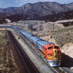 ATSF Super Chief with F-3's in California