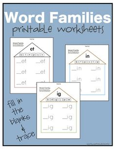 Preschool Practice: Word Family Worksheets Plus: 38 short vowel flipbooks, plus a blank template available for free