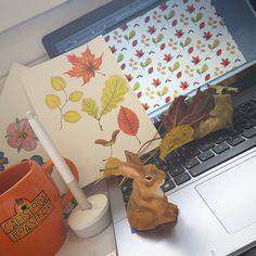 #workinprogress #pattern #automne #autumn #fall #leaves #fallenleaves #photoshop #desk #flowleaf2015