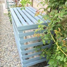 Ac Cover, Air Conditioner Cover, Diy Outdoor Furniture, Diy Projects To Try, Diy And Crafts, Balloons, Yard, Outdoor Structures, Patio