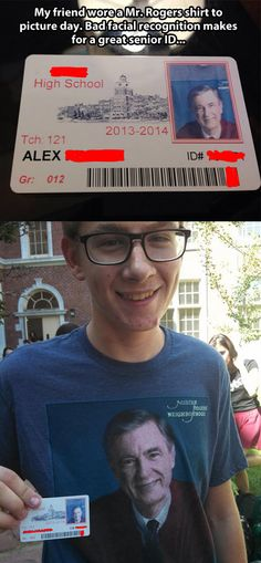 Bad facial recognition makes for a great senior ID…