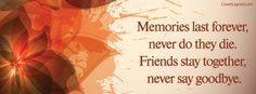 Memories Last Forever Facebook Cover CoverLayout.com