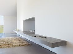 Fireplace - Baron House, Sweden, by John Pawson