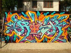 #graffiti #piece #burner http://urbanartbomb.com - graffiti wall