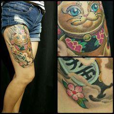 Dali Tattoo, Fox Tattoo, Maneki Neko, Fresh Tattoo, Oriental Tattoo, Professional Tattoo, Tattoo Studio, Japanese Art, Tattoos For Women