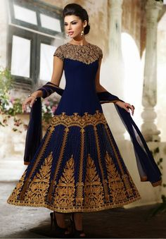Alluring Navy Blue Bollywood Anarkali Suit :- Style,Design And Trend With This Beautiful Navy Blue Viscose Georgette Long Length Anarkali Suit. Beautified With Butta Work,Lace,Moti,Resham,Stones Work Personifies The Entire Appearance. - See more at: http://www.daindiashop.com/women/suits/Pakistani-Suits/alluring-navy-blue-bollywood-anarkali-suit-dis-diff-36058#sthash.l0LqxPJY.dpuf