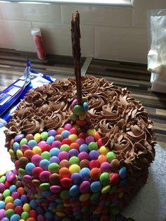 Close up of nutella cake