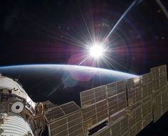 NASA officials have responded to the recent bewildering proliferation of claims of alien UFO spacecraft sightings close to the International Space Station (ISS) in low Earth orbit. Earth And Space, Nasa Goddard, Cosmos, Ufo, Life In Space, Space Age, Nasa Photos, Nasa Pictures, Nasa Images