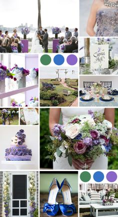 Purple, Blue and Green Wedding Ideas