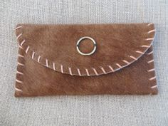 The Virginian Clutch - The Hair on Hides - Emily Rosendahl Leather Goods #purse #leather #clutch