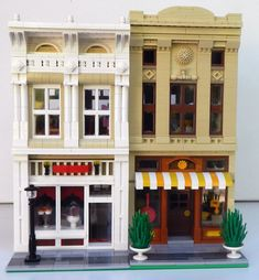 https://flic.kr/p/vwCzt2 | Lego Modular Kitchen Store with Candy Store | Side by side for comparison.