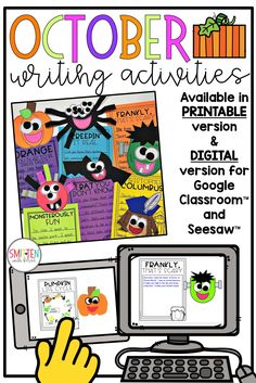 Digital October Writing Crafts and Prompts for Distance Learning
