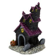 top fin haunted house halloween aquarium ornament ornaments