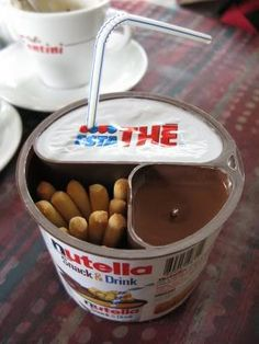 Snack and drink Nutella