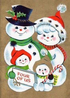 Snow Couple Christmas