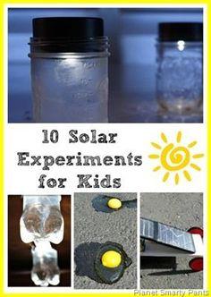 10 Solar Energy Experiments for Kids via Planet Smarty Pants