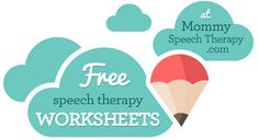 Free Speech Therapy Worksheets! MommySpeechTherapy.com