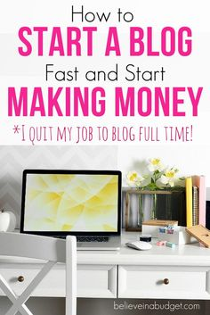 One of the best ways to make extra money and side hustle is to start a blog! When I started my blog it only took me about 15 minutes to get set up. I slowly started learning how to blog and managed to make $13,000 in 6 months. After 1 year of blogging, I was able to quit my job and blog full time. If you want to start a blog and make money, here's how!