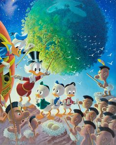 Donald Duck and Uncle Scrooge - Astronomical Predicament by Carl Barks