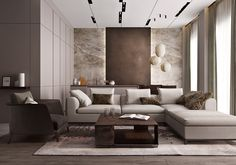 26 Stylish Ways Modern Living Room Decorating Ideas Can Make Your Home Cozy - The Trending House New Living Room, Living Room Modern, Living Room Sofa, Living Room Interior, Living Room Designs, Living Room Decor, Contemporary Lounge, Interior Desing, Living Room Inspiration