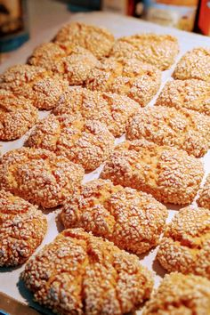 Palm trees with almond cream - HQ Recipes Italian Sesame Seed Cookies, Recipe For Sesame Cookies, Italian Cookies, No Bake Cookies, Chip Cookies, Baking Recipes, Cookie Recipes, Heritage Recipe, Greek Desserts