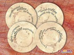 COFFEE PRINTS  Digital Collage Sheet Printable 4 by KARTINKAshop, $4.50