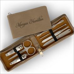 Manicure Set  Personalized Case  3557 by AmericanStationery