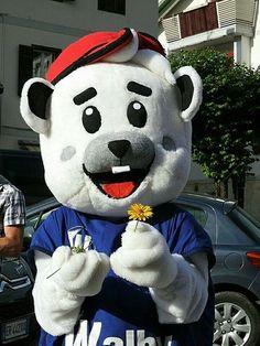 Walby dei supermercati SuperW Walber mascot
