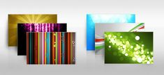 Colorful background set abstract PSD