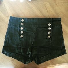 Forever 21 high waisted shorts Perfect condition!! Super cute  with gold buttons Forever 21 Shorts Jean Shorts